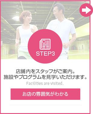 STEP3 店舗内をスタッフがご案内。施設やプログラムを見学いただけます